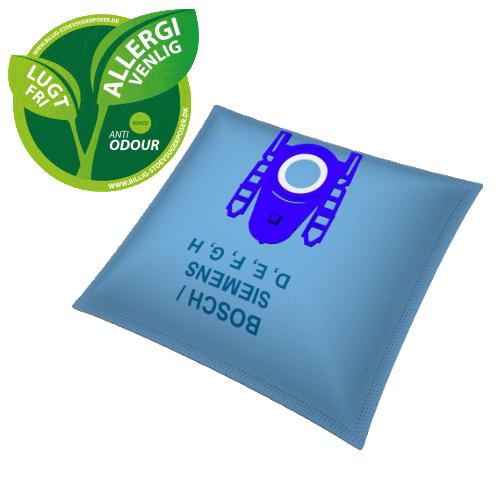 Image of Anti Odeur Støvsugerposer til Bosch | 4 stk + 1 filter